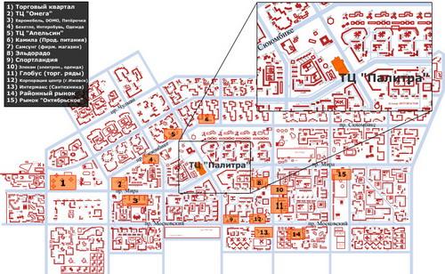 Схема проезда: окрестности